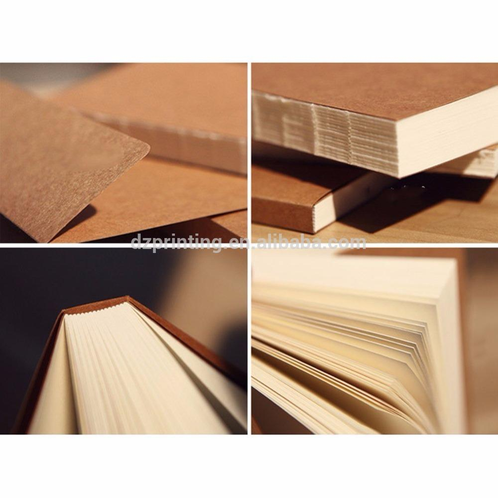 product-Dezheng-Wholesale A5 Journal Custom Plain Kraft Paper Blank Cover Sketch Notebook With Nude -1