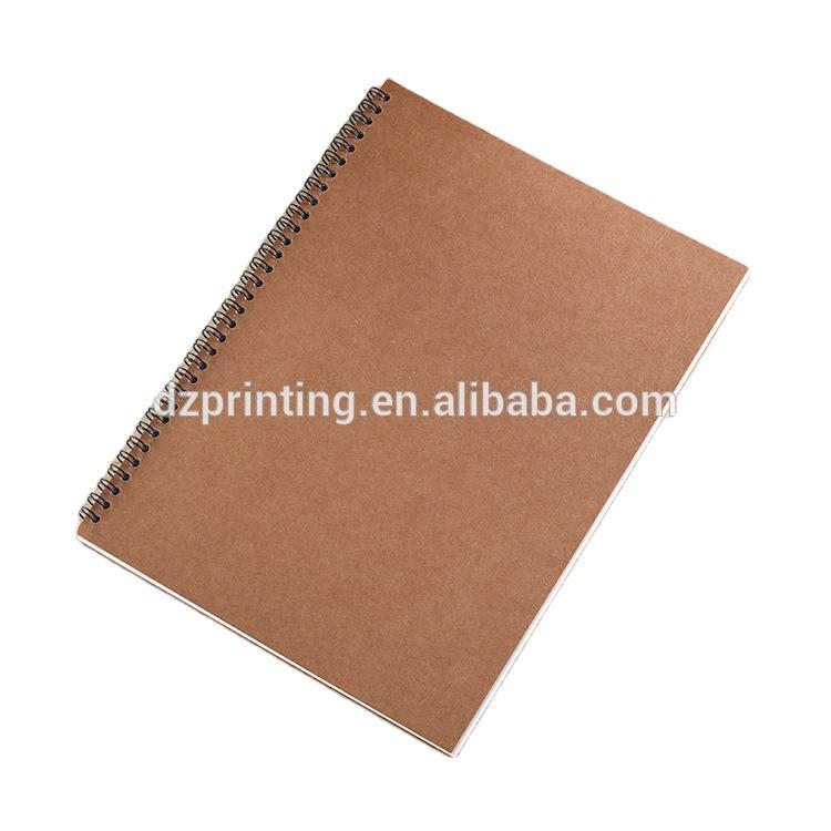 custom logo,Best Sketchbook A5 Blank Kraft Cover Spiral Bound Journal Notebook Without Lines,kraff notebook for custom printing