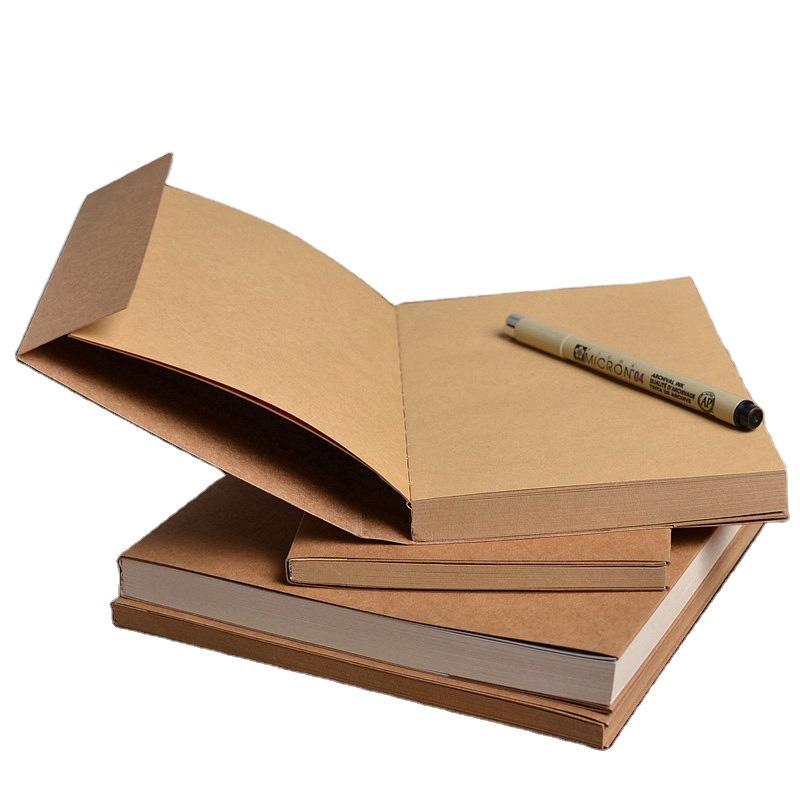 A5Custom Blank Cover Glue Binding Nude Sketchbook 100% Recycled Lay Flat
