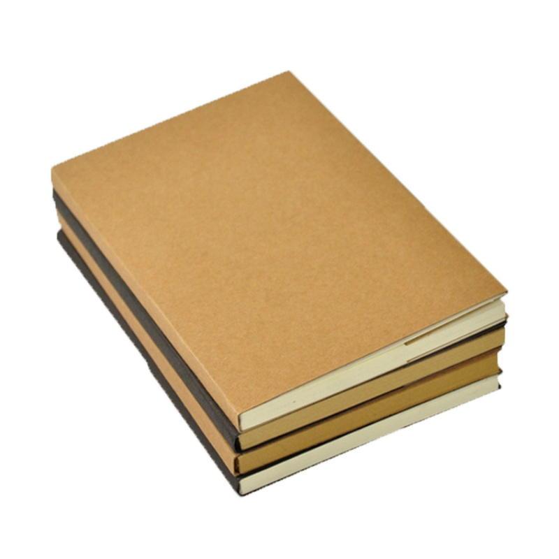 Simple Design Kraft Paper Blank Notebook Oem Wholesale Blank Sketchbook Custom Kraft Paper Notebook
