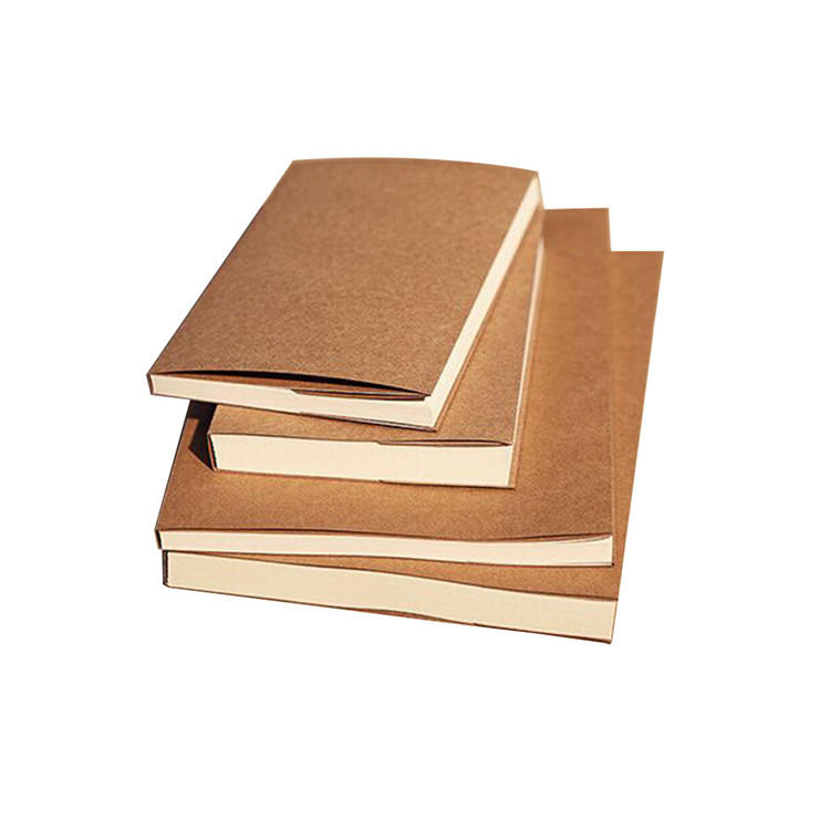 32K A5 Plain Kraft Paper Cover Notebook Sketch Book With Blank Pages
