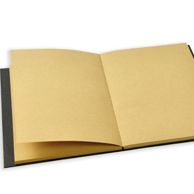 product-Wholesale A5 Journal Custom Plain Kraft Paper Blank Cover Sketch Notebook With Nude Spine Ex-1