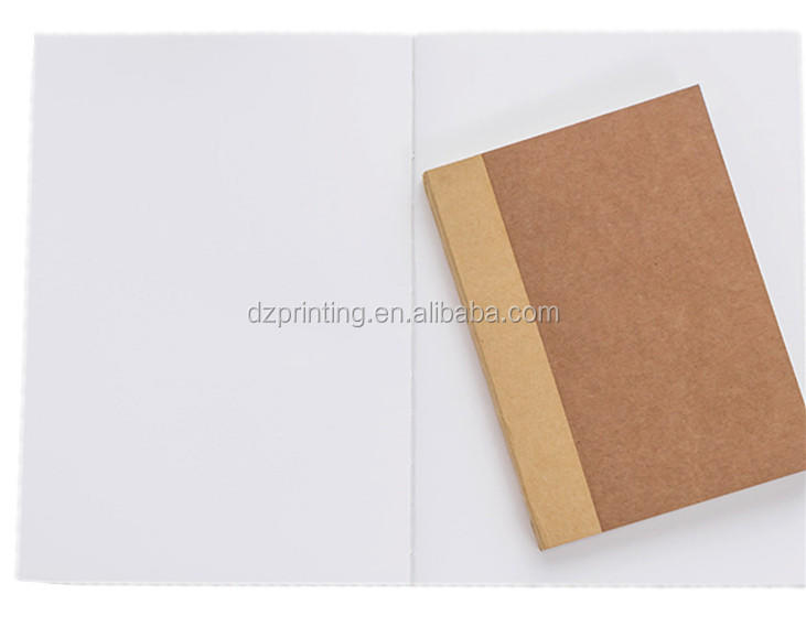 product-Dezheng-Paper Notebook Manufacturer A4 A5 A6 Kraft Lay Flat Book With Blank White Pages-img-1