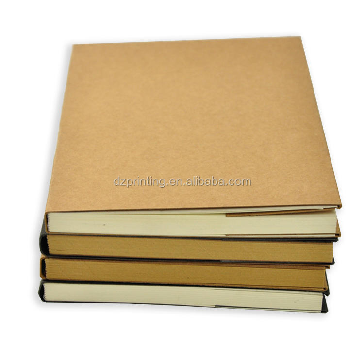 A5 Journal Nude Binding Plain Kraft Paper Cover Notebook With 100gsm Blank Pages