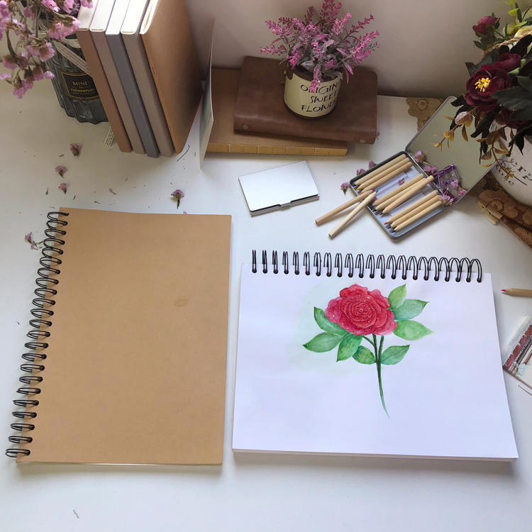 product-a5 a4 eco-friendly notebook Colouring Coloring Book sketch book Printing customized Spira-1