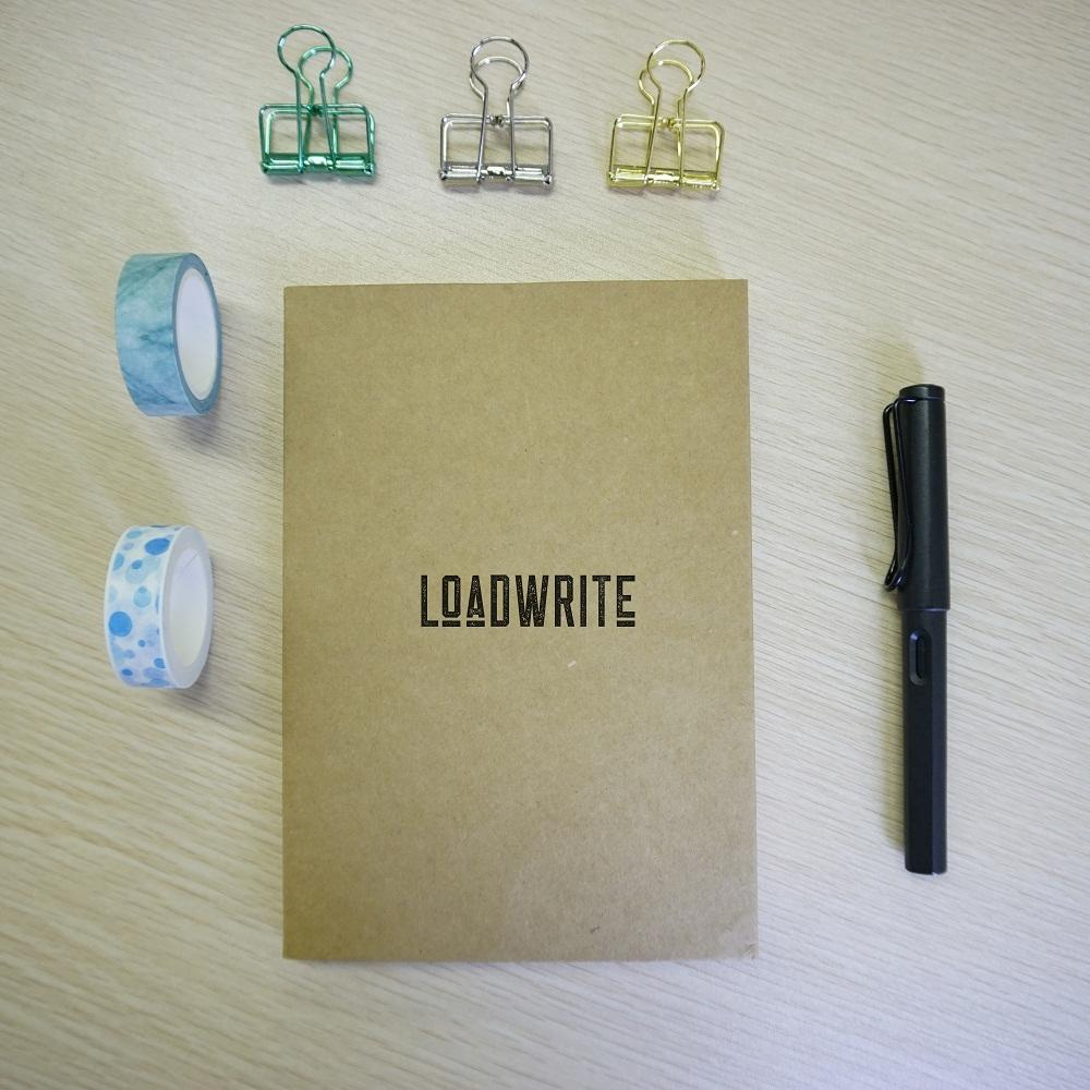 Durable Thread Bound A5 Kraft Paper Blank Cover Sketchbook For Drawing