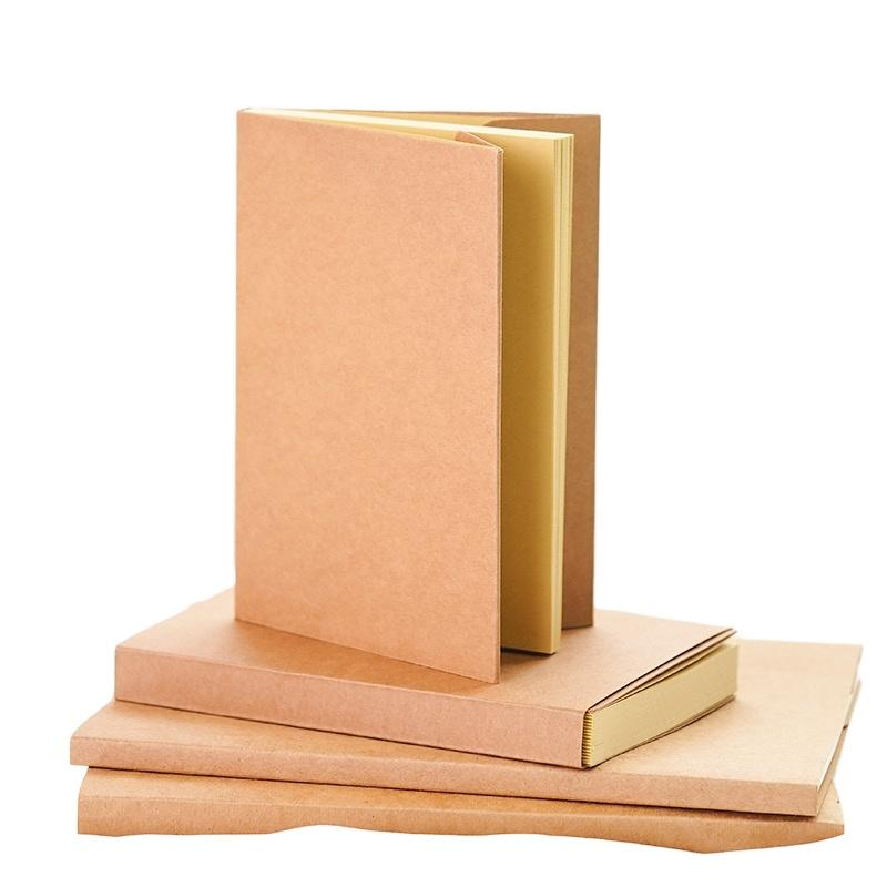 A5 100GSM Nude BindingBlanking Cover Notebook With Kraft Cover Custom Sketchbook