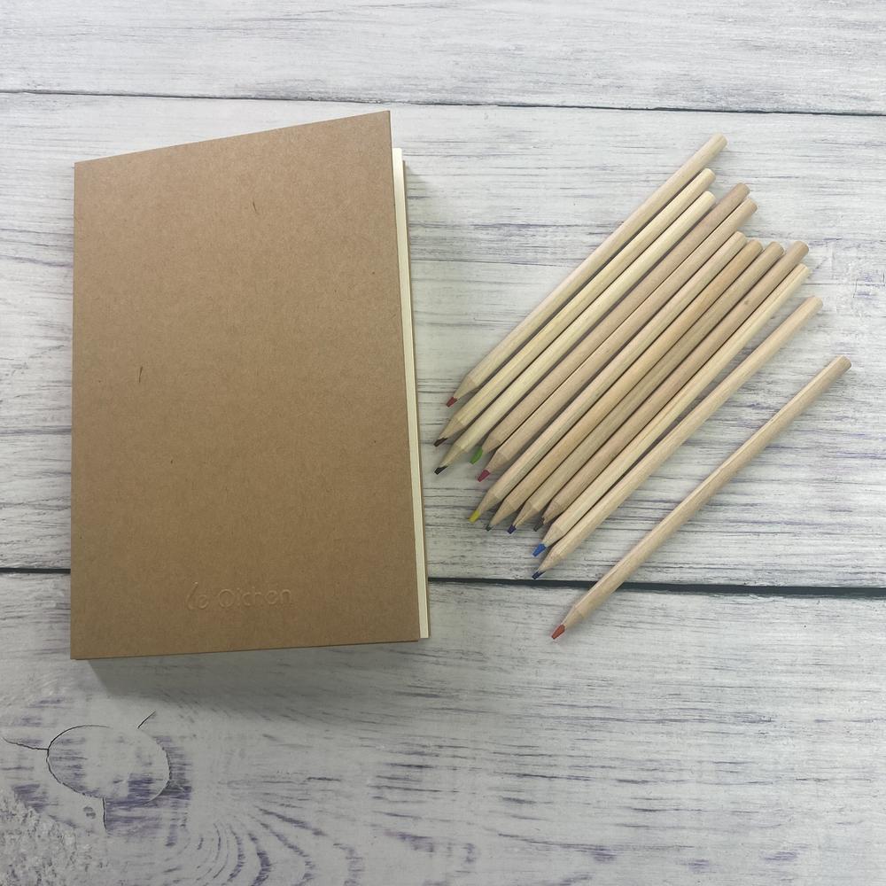 Le Qichen Classic Blank Sketch Journals Kraft Paper A5 Sketch Book