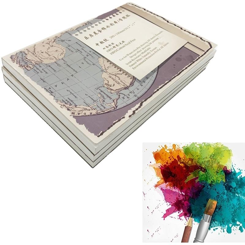 New design Cotton Watercolor Paper Textured Surface Watercolor Pad