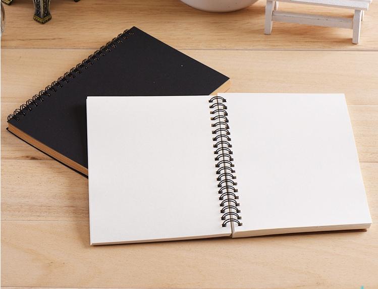 product-Dezheng-custom logo,Best Sketchbook A5 Blank Kraft Cover Spiral Bound Journal Notebook Witho-1