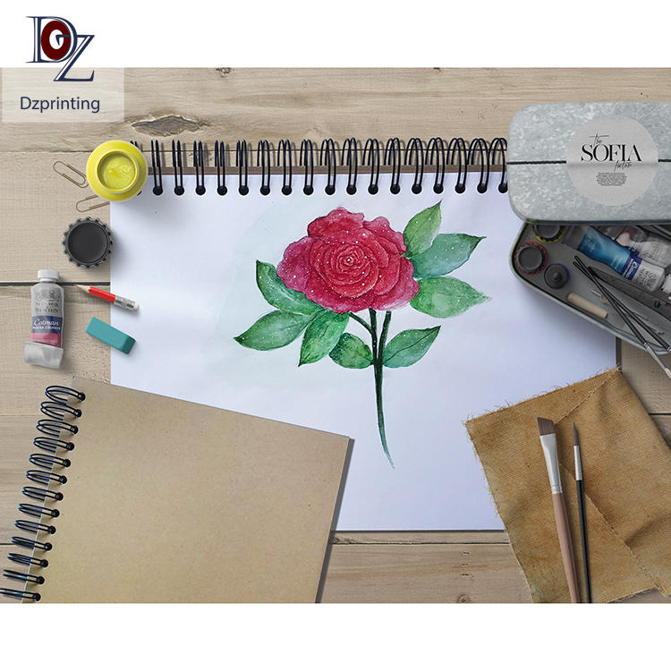 product-US Amazon Best Wholesale Blank Black Drawing SketchbookWatercolor Paper Pad,Ink Sketch Book -1