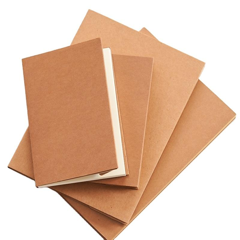 A5 Custom Concise Fashion Sketchbook Blank Kraft Cover Notebook
