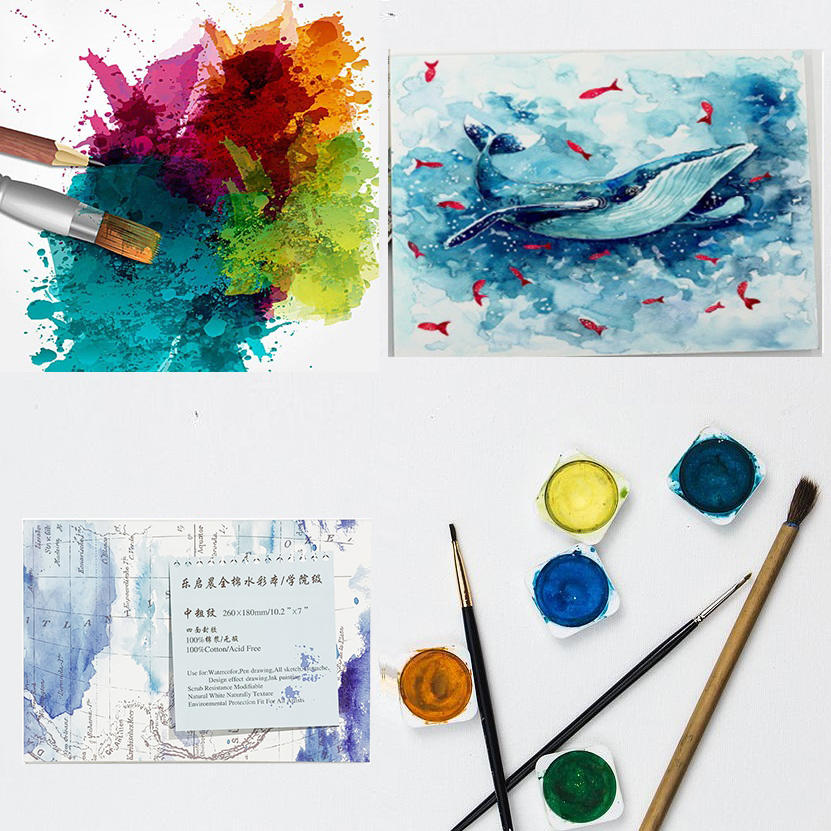 Cotton Watercolor Paper Textured Surface Watercolor Pad