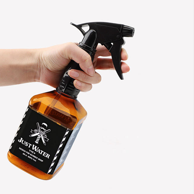 wholesale transparent 600ml plastic hair spray nozzle bottle with spray trigger