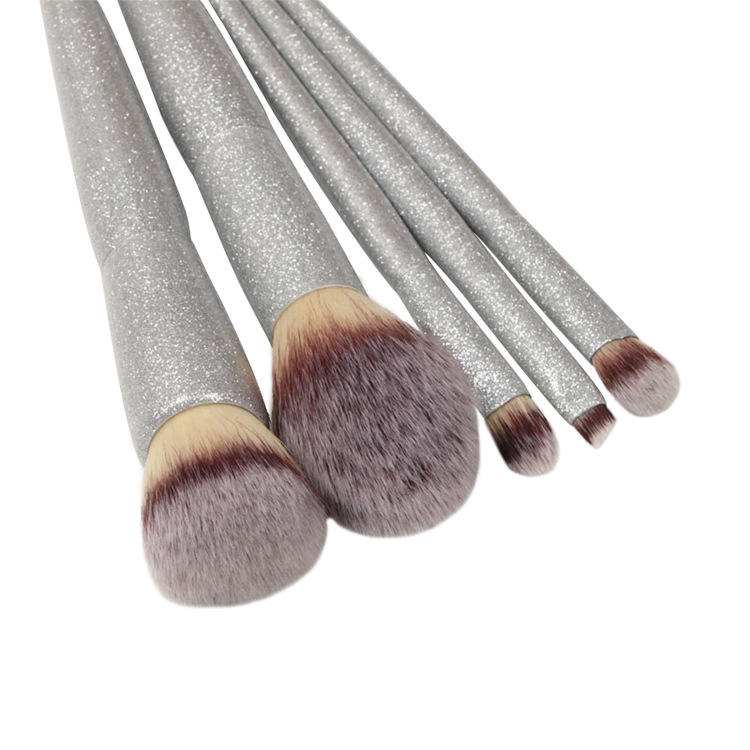 New style designer makeup brush sets create your own brand professional kit glitter handle makeup brushes