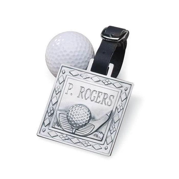 Custom made die casting metallic cheap golf luggage bag tags