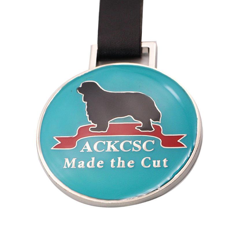 Factory Custom Hight Process Soft Enamel Embossed Logo Rescue Service Dog Metal Luggage Golf Tag