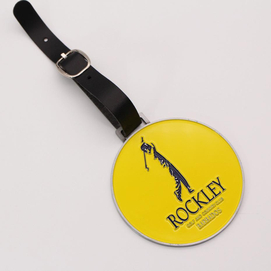 Manufacture cheap wholesale customized metal golf member bag tag