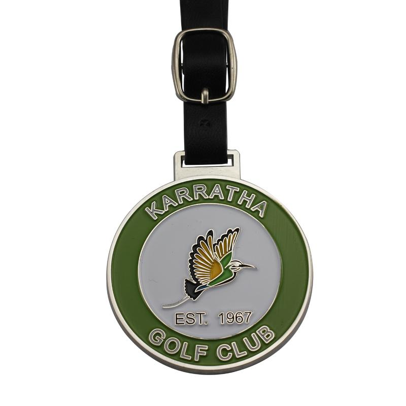 Gold plated customized metal cheap golf tag for golf club