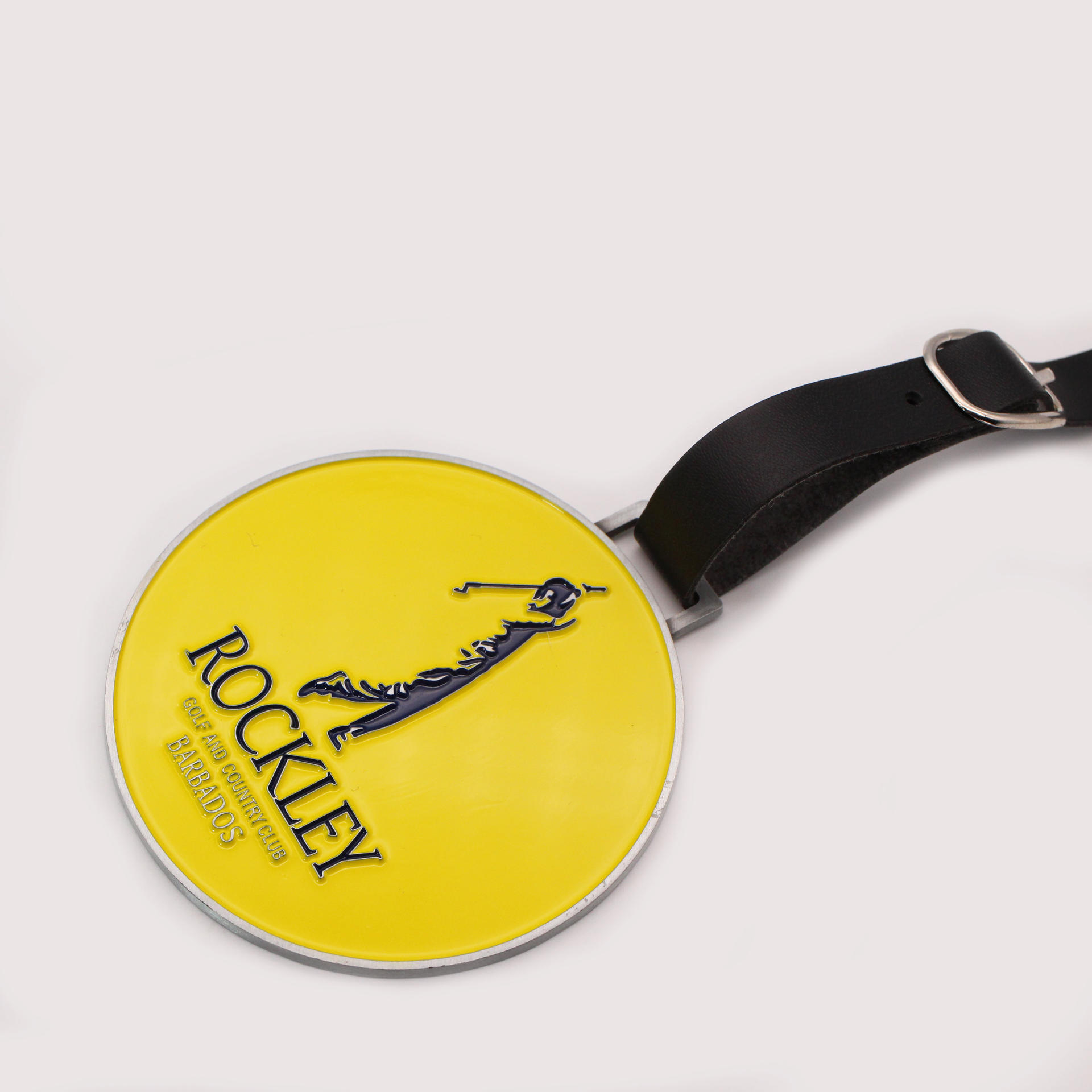 Manufacture cheap wholesale customized metal golf member bag tag