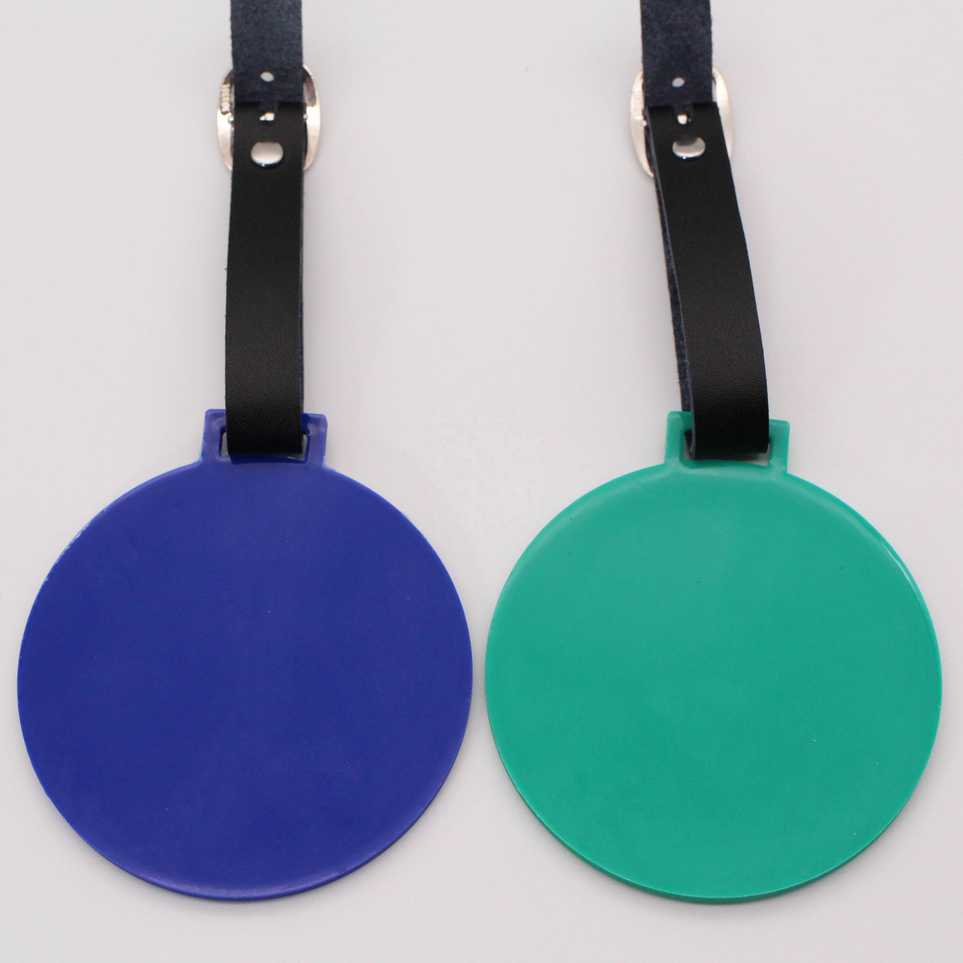 Cheap promotional custom round pvc golf bag tag