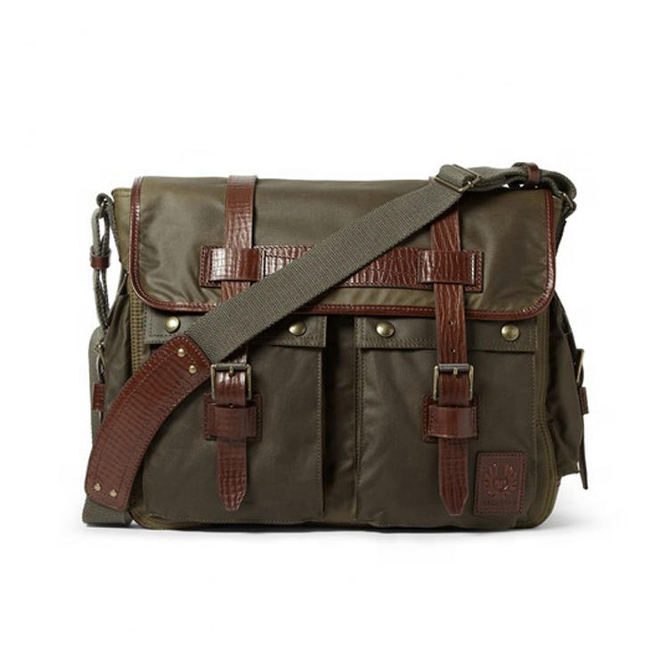 GF-X294 Mens Wax Cotton Canvas Messenger Bags Wholesale