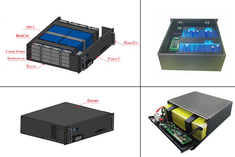UFO Rack Mount LiFePO4 Lithium Battery Module | Optional GPRS Function | 48V 50Ah