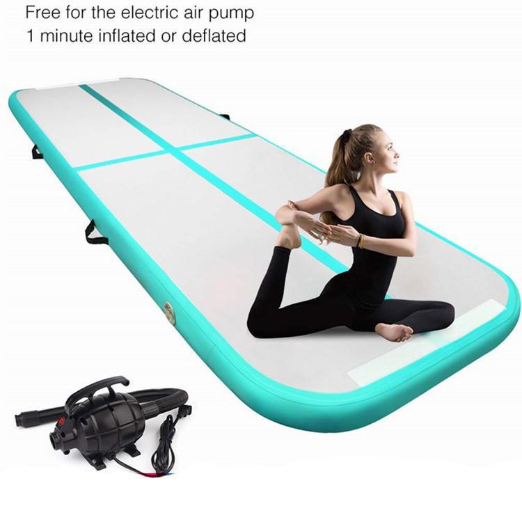 3M 4M 5M Air Track Inflatable Gymnastics Floor Trampoline Electric Air Pump, Air Track Tumbling//