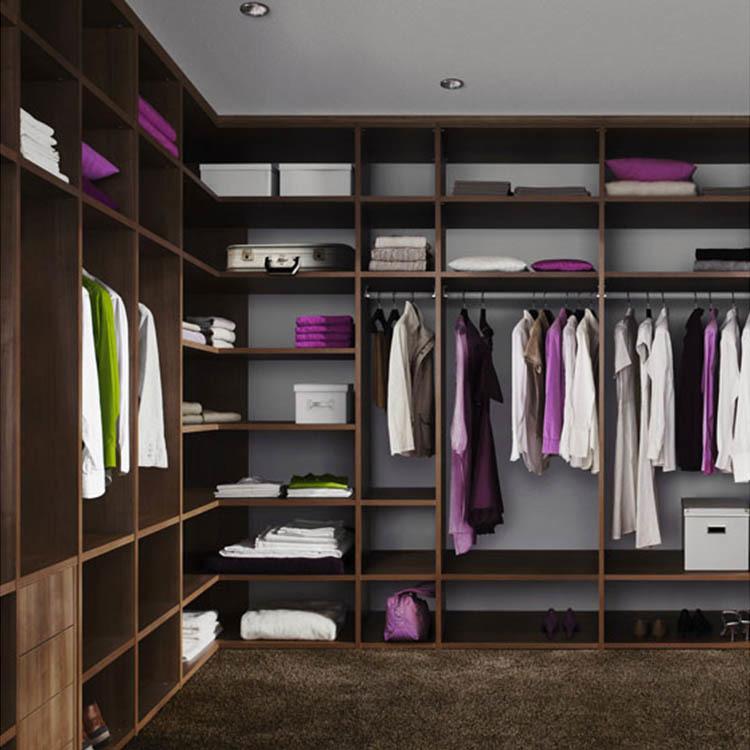 Open black walnut wardrobe shelving system cheap wardrobe set storage organization
