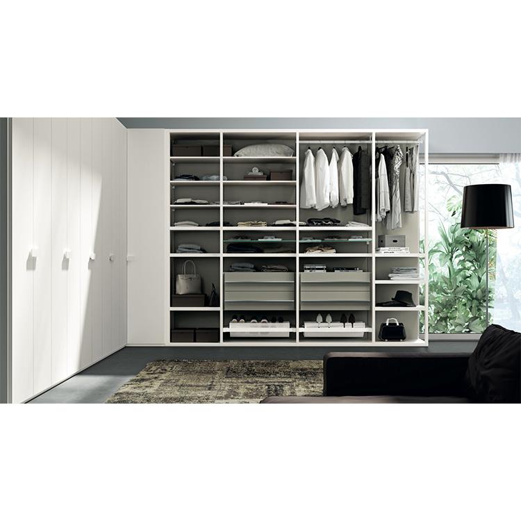 Customized Portable Sliding Wooden Clothing Wardrobe Cabinet