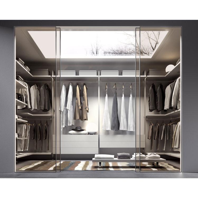 China Factory Price Wood Clothes Cabinet 2 Door Wardrobe With Mirror Steel Cupboard Designs Bedrooms
