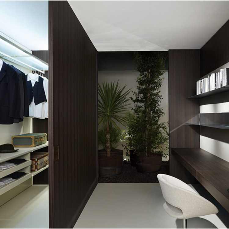 New Model Korean Custom Amoires Wardrobe Closet Wood Cabinet Bedroom Furniture