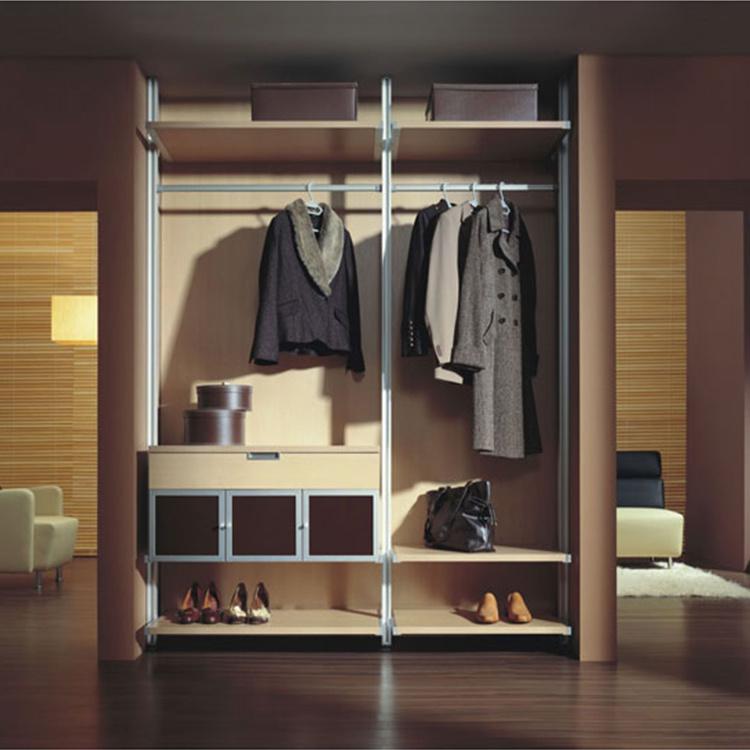 Cheap morden design 2 door furniture wood bedroom cabinet wardrobe closet