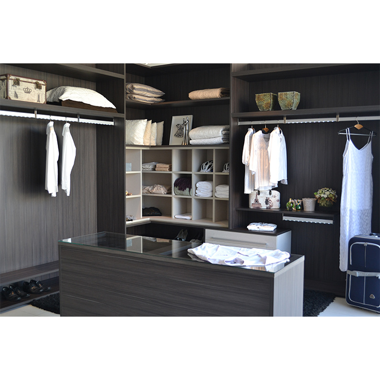 Custom Walking in Solid Wood Portable Storage Closet Modern Wardrobe