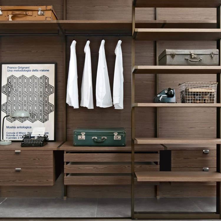 Modern modular bedroom furniture walk in closet system wooden wardrobe
