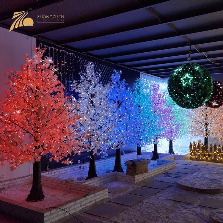 High Quality Custom Holiday Decoration LED Artificial Pine Shape Maple Tree Light