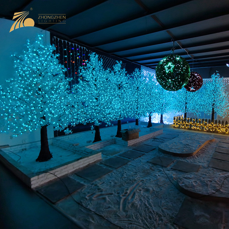 China Manufacturer LED Artificial Maple Tree For Mall Square Decoration Light