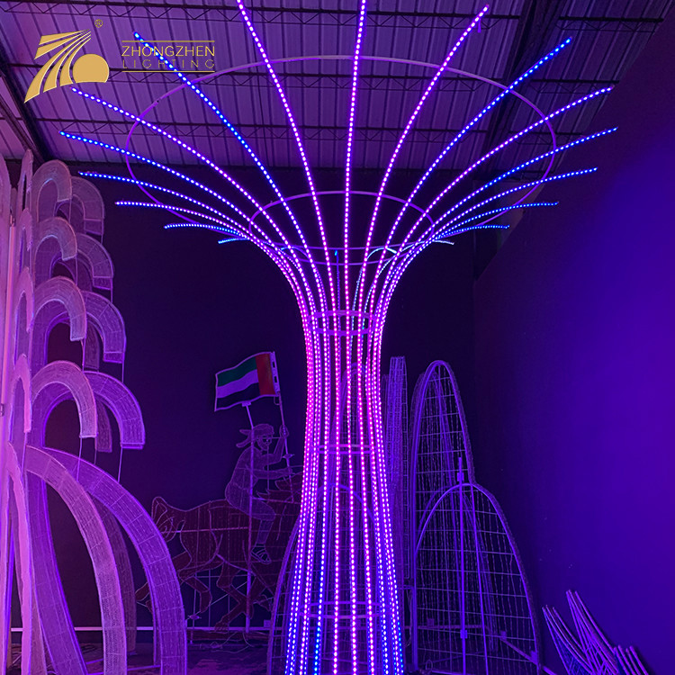 Professional Quality Custom Large Project Festival Decoration 3D Christmas Tree LED Light