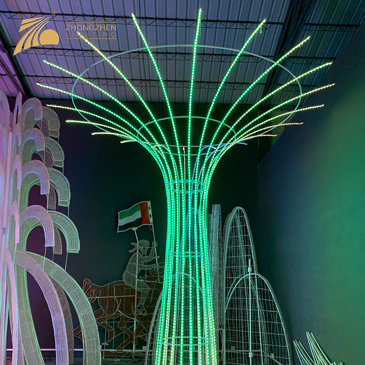 Low Power Consumption Custom Festival 3D Motif Colorful LED Decorative Lighting