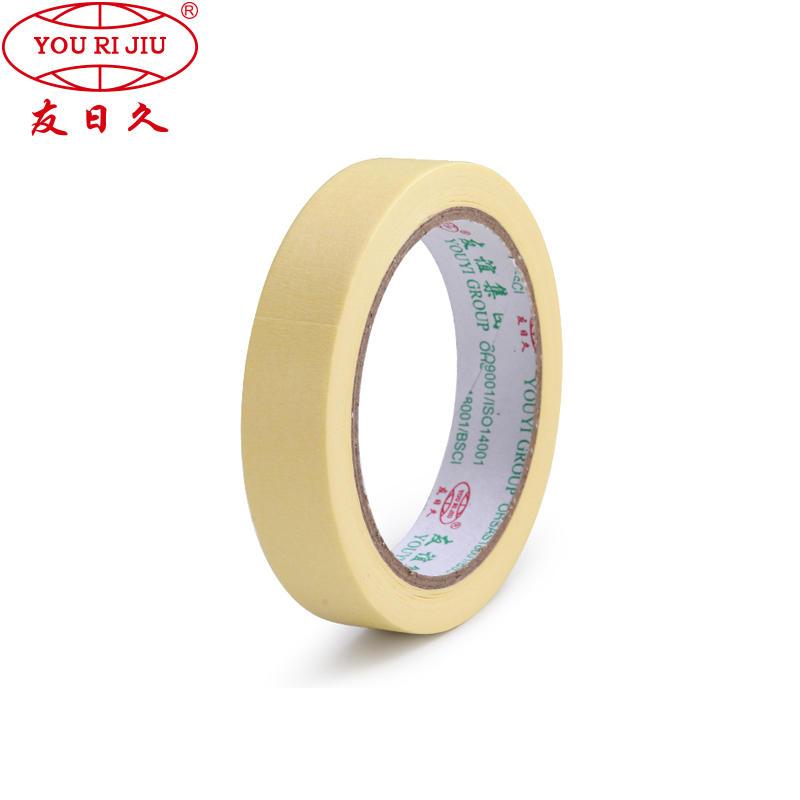 High resist temperature 120 degree crepe paper hot melt waterproof masking tape