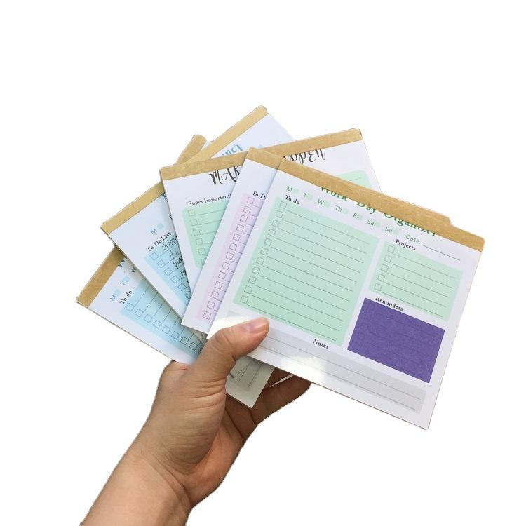 New Custom Printed Sticky Notepad 50 Sheets To Do List Notepad With Clear PVC Cover