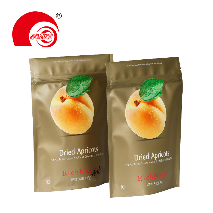 High Barrier Fruit Packaging Pouch Stand Up Dried Apricots Storage Bag with Zipper