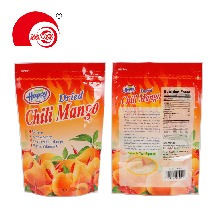 product-Huihua-Stand Up Dried Fruit Packaging Bag Dried Chili Mango Package Doypack with Zipper Tear