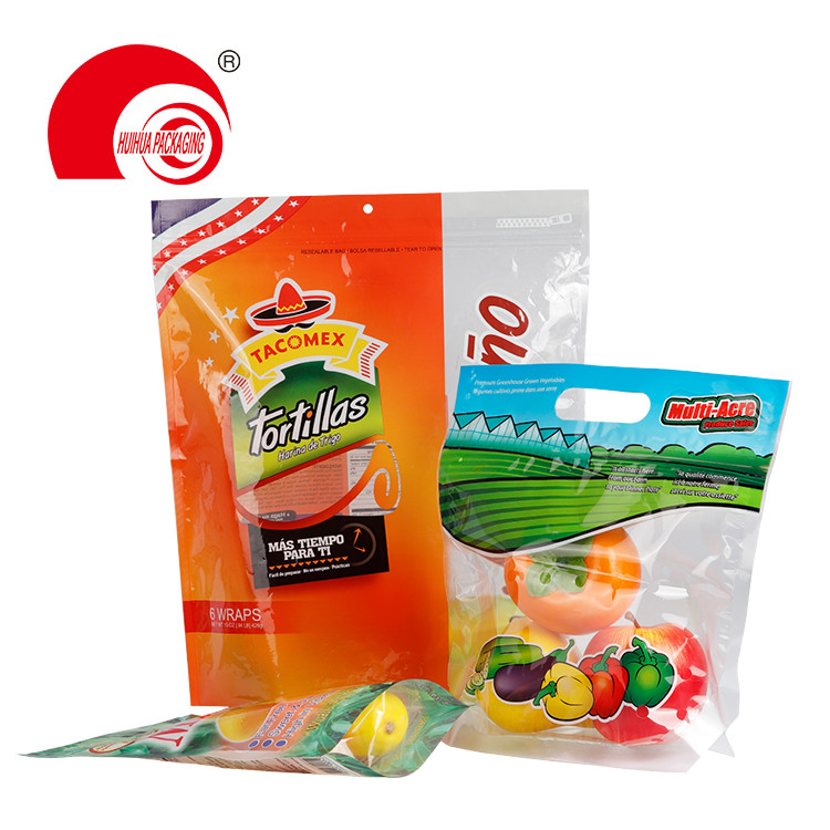 Custom Printing Resealable Stand Up Pouch Zip Lock Fresh Fruit Packaging Bag Foil Bag with Handle