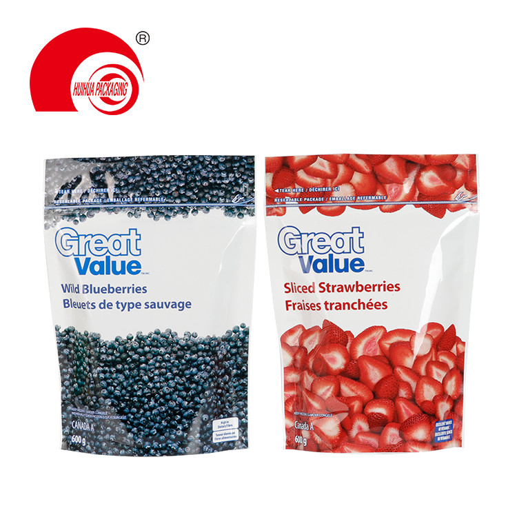 Food Grade Packaging Fruit Bag Sliced Fruit Plastic Pouch with Resealable Ziplock