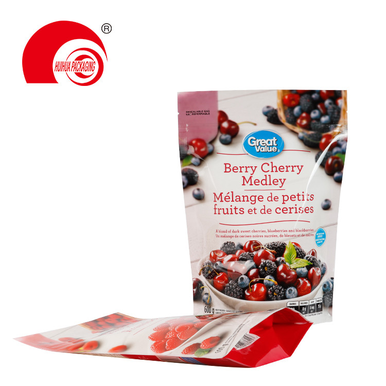 product-Huihua-Stand Up Resealable Fruit Packaging Pouch Raspberries Berry Cherry Medley Storage Bag