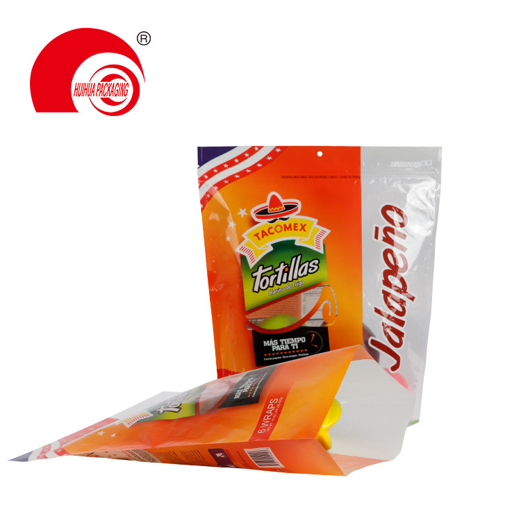 product-Huihua-Custom Printing Fresh Fruit Packaging Bag Pouch with Clear Window Resealable Ziplock