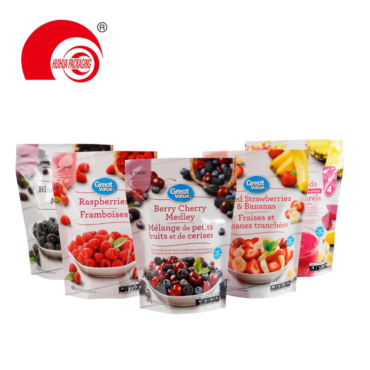 Resealable Plastic Fresh Fruit Packaging Bag Black Berries Raspberries Strawberries Package Pouch