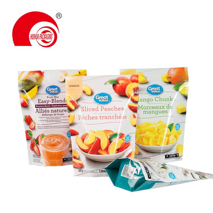 Fruit Mix Sliced Peaches Mango Chunk Packaging Bag Laminated Plastic Fruit Package Bag