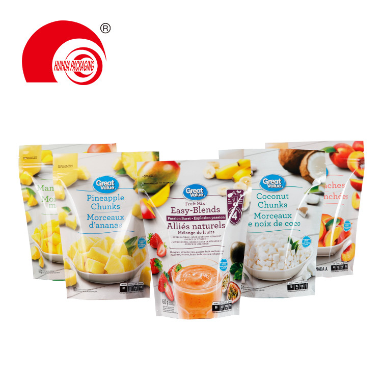 Fruit Mix Peaches Coconut Pineapple Chunks Packaging Pouch PE Packaging Bag for Fruits